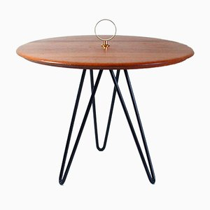 Mid-Century Tripod Teak and Cast Iron Side Table from Digsmed, 1960s