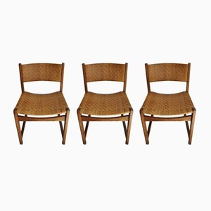 Model 351 Chairs by Peter Hvidt & Orla Mølgaard-Nielsen for Søborg Møbelfabrik, 1950s, Set of 3