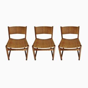 Modell 351 Stühle von Peter Hvidt & Orla Mølgaard-Nielsen für Søborg Møbelfabrik, 1950er, 3er Set