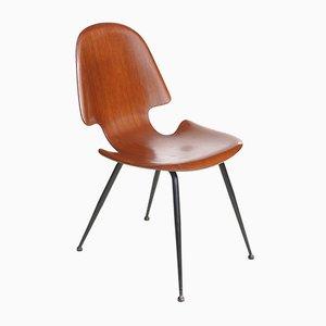 Stuhl aus Schichtholz von Carlo Ratti für Compensati Curvati, 1950er