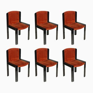 Model 300 Chairs by Joe Colombo for Pozzi,1965, Set of 6