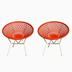 French Space Age Lounge Chairs, 1960s, Set of 2