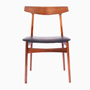 Vintage Danish Leather & Rosewood Chair by Henning Kjærnulf for Bruno Hansen