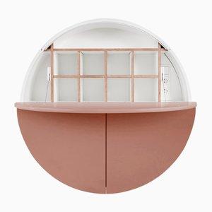 Mueble Multifunctional Pill blanco y rosa de Cabinet de Dalius Razauskas para Emko