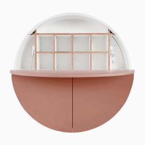 White & Pink Multifunctional Pill Cabinet by Dalius Razauskas for Emko