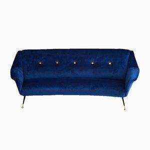 Italian Curved Mid-Century Modern Sofa, 1950s