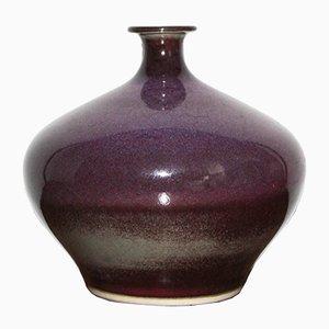 Vase Mid-Century en Céramique par Sven Hofverberg, Suède