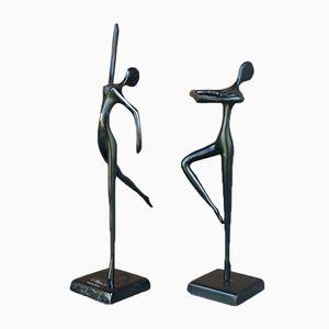 Figurines de Danseuses par Bodrul Khalique, 1980s, Set de 2
