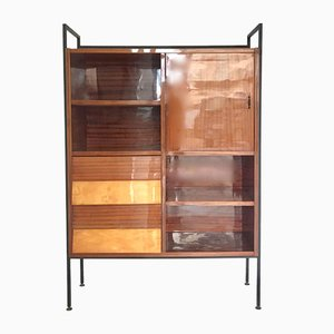 Scandinavian Lacquered Wooden Bookcase, 1960s