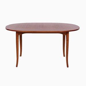 Table Basse Ovale Mid-Century en Teck par Carl Malmsten
