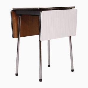 Tavolo pieghevole in formica ed acciaio, anni '50