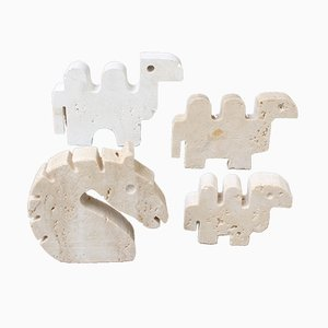 Travertine Animals by Fratelli Mannelli, 1970s, Set of 4