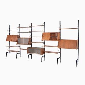 Libreria modulare vintage di Louis Van Teeffelen per Webe