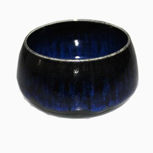 Mid-Century Blue Ceramic Bowl by Gunnar Nylund for Rörstrand