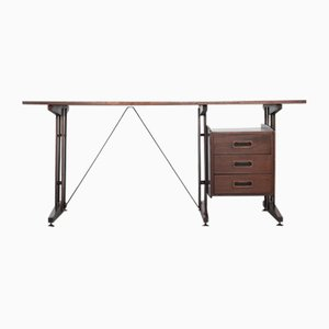 Palisander Schreibtisch von Franco Albini, 1970er