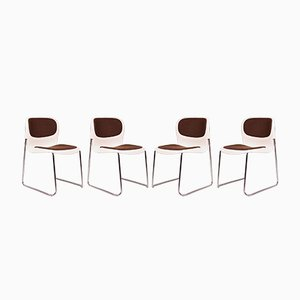 Space Age Stackable Chairs by Gerd Lange for Drabert, 1970s, Set of 4