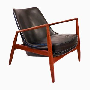 Chaise Seal par Ib Kofod-Larsen pour OPE, 1956