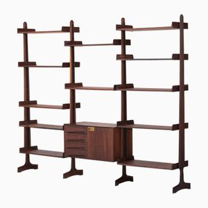Rosewood Wall Console by Vittorio Dassi, 1950s