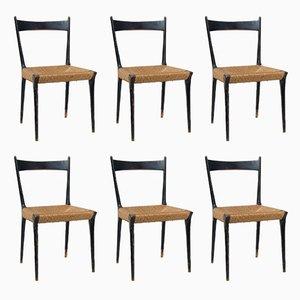 Sedie da pranzo moderniste di Alfred Hendrickx, 1958, set di 6