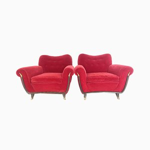 Italian Armchairs from FBG, 1950s, Set of 2