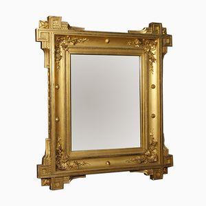 Goldener französischer Spiegel aus dem 19. Jh.
