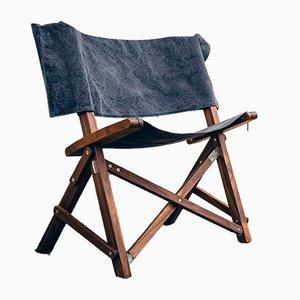 Silla Dino de nogal y algodón de Tonuccidesign para Tonucci Manifestodesign