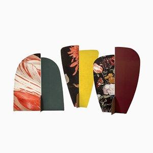 Kazimir Wandschirme mit floralen Mustern von Julia Dodza für Colé, 3er Set
