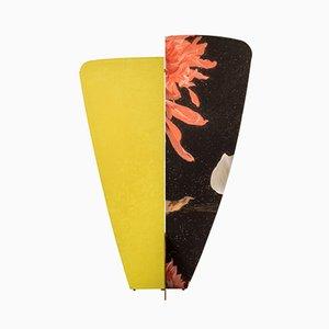 Biombo Kazimir Type A amarillo con estampado floral negro de Julia Dodza para Colé