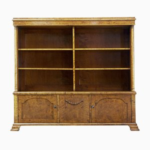 Antique Empire Birch Bookcase Cabinet