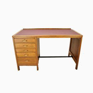 Vintage British Oak-Style Teak Desk, 1960s