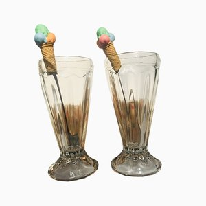 Ice Cream Cups, 1970s, Set of 2