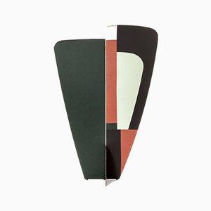 Schermo Kazimir astratto verde, rosso, bianco e nero di Julia Dodza per Colé