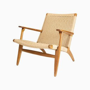 CH25 Lounge Chair by Hans J. Wegner for Carl Hansen & Søn, 1950s