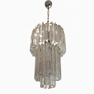 Lámpara de araña de cristal de Murano de Paolo Venini, años 60