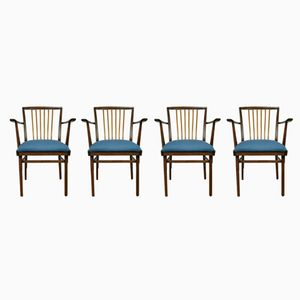 Vintage Chairs by Karl Nothhelfer for Kuhlmann & Lalk, 1970s, Set 4