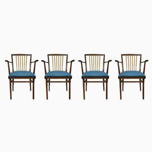 Vintage Stühle von Karl Nothhelfer für Kuhlmann & Lalk, 1970er, 4er Set