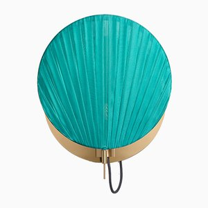 Guinea Wall Lamp #2 in Shiny Turquoise by Servomuto