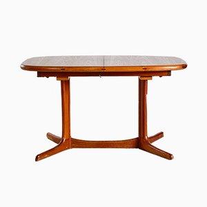 Mesa de comedor ovalada de teca de Dyrlund, años 60