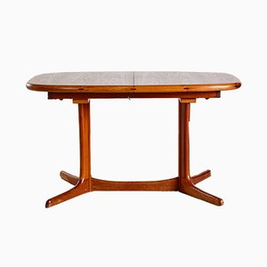Oval Teak Dining Table from Dyrlund, 1960s