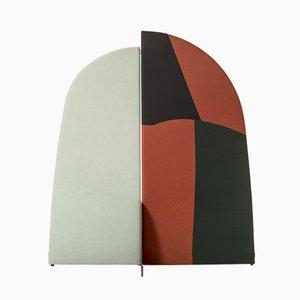 Biombo Kazimir abstracto Type B en verde, rojo, blanco y negro de Julia Dodza para Colé