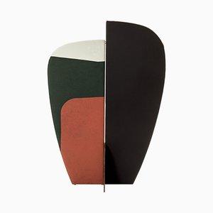 Paravent Abstrait Kazimir Type C Vert, Rouge, Blanc et Noir par Julia Dodza pour Colé