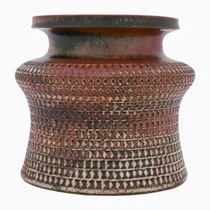 Steingut-Vase von Stig Lindberg für Gustavsberg, 1960er