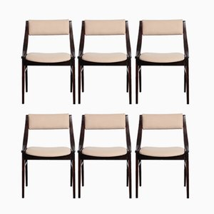 GFM-57 Polish Chairs by Juliusz Kędziorek for Zamojskie Fabryki Mebli, 1965, Set of 6