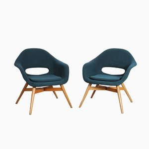 Czech Armchairs by Miroslav Navratil, 1960s, Set of 2