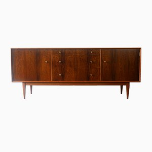 British Solid Mahogany and Rosewood Sideboard, 1961