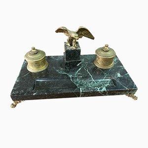 Vintage Bronze Tintenfaß im Empire Stil