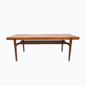Danish Teak Table with Shelf, 1960s