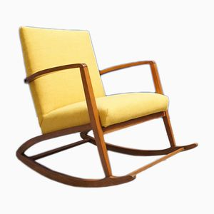 Danish Boomerang Rocking Chair, 1960s