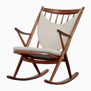 Vintage Rocking Chair by Frank Reenskaug for Bramin