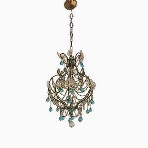 Lampada a sospensione vintage in cristallo di Murano